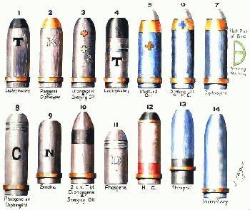 กระสุนปืนใหญ่ของกองทัพเยอรมัน